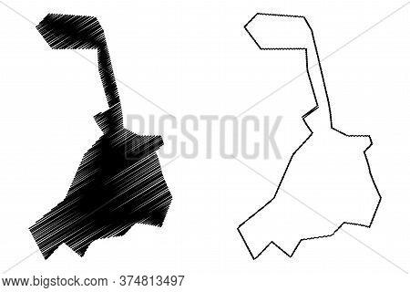 Qom City (islamic Republic Of Iran, Persia, Qom Province) Map Vector Illustration, Scribble Sketch C