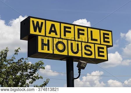 Florence - Circa July 2020: Waffle House Iconic Southern Restaurant Chain. Waffle House Was Founded