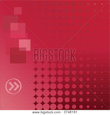 Red Doted Background