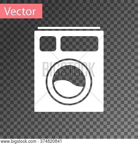 White Washer Icon Isolated On Transparent Background. Washing Machine Icon. Clothes Washer - Laundry