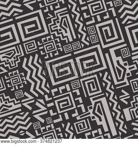 Ethnic Tribal Pattern Seamless. Geometric Aztec Abstract