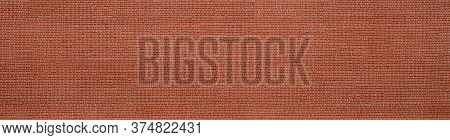 Panoramic Background Of Wide Old Red Brick Wall Texture