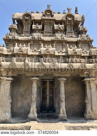 Pancha Rathas Complex At Mahabalipuram, Tamilnadu, India