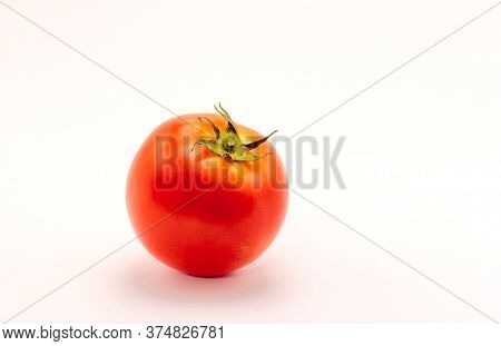 Tomatoes Isolate On White Background. Close Up