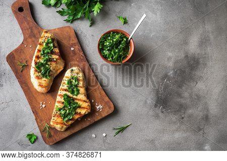 Chicken Steak With Chimichurri Sauce