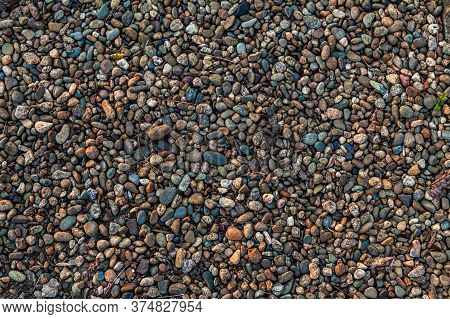 Small Smooth Waterworn Pebbles, Stones For Use Decor And Garden Landscaping.