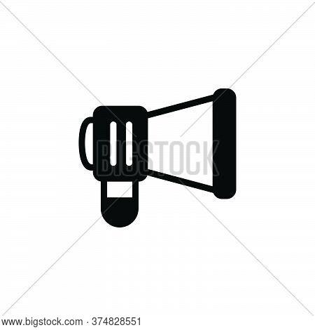 Black Solid Icon For Campaign Marketing Ios Megaphone Communication Optimization Promotion E-commerc