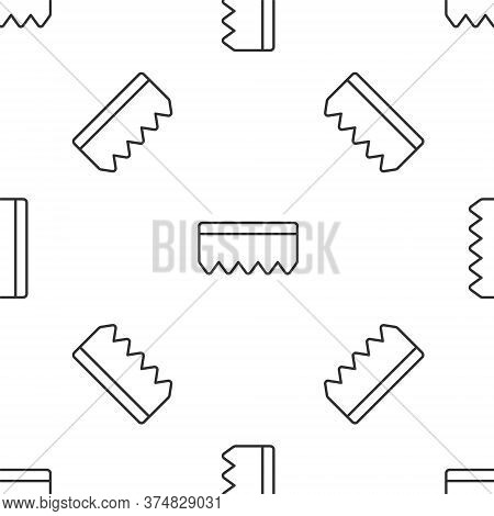 Grey Line Sponge With Bubbles Icon Isolated Seamless Pattern On White Background. Wisp Of Bast For W