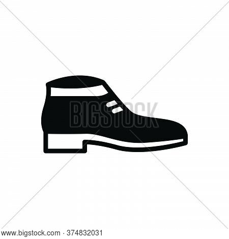 Black Solid Icon For Shoes Fashion Trendy Sport Sneakers Footwear Wear Shoelace Workout Accessory