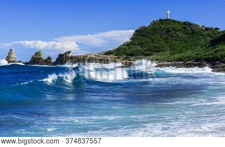 Coast By Pointe Des Chateaux, Guadeloupe, Caribbean, France