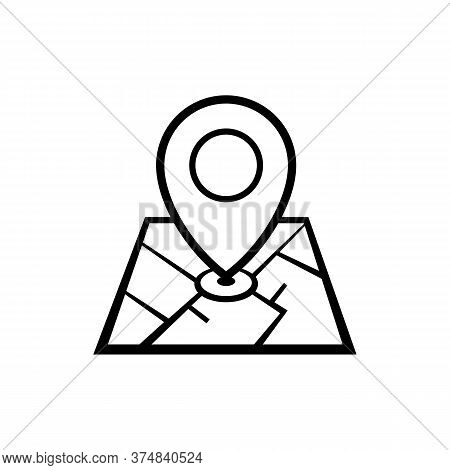 Location Pin Icon Vector On White Background. Map Point Icon, Navigation Icon, Map Location Pin Icon