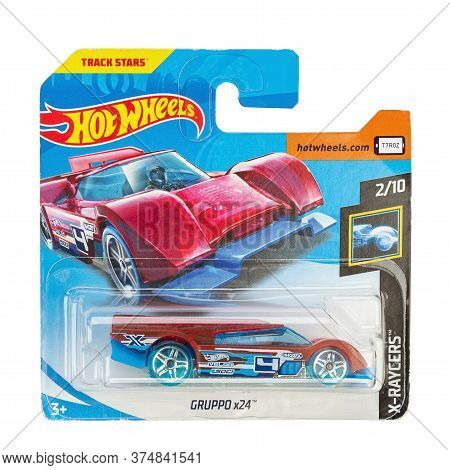 Ukraine, Kyiv - June 22. 2020: Toy Car Model Gruppo X24. Hot Wheels Is A Scale Die-cast Toy Cars By