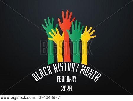 Black History Month Poster. Black Lives Matter. Stop Racism Concept. Vector Illustration.