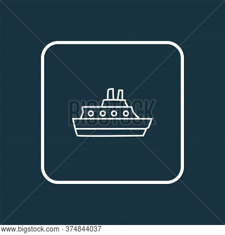 Cruise Icon Line Symbol. Premium Quality Isolated Vessel Element In Trendy Style.