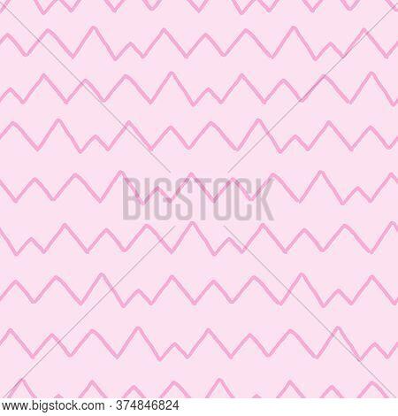 Geometric Lines Seamless Pattern. Modern Texture With Diagonal Stripes, Broken Lines, Chevron, Zigza