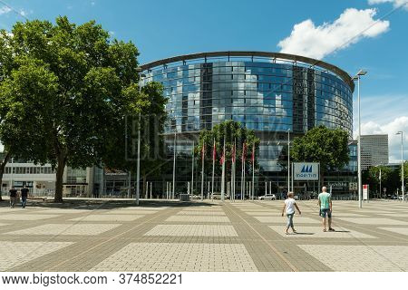 Frankfurt Am Main, Germany-july 02, 2020: The Congress Center Messe (trade Fair) Frankfurt Am Main,