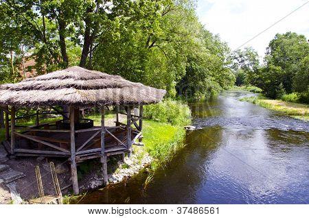 Summerhouse On Park River Coast