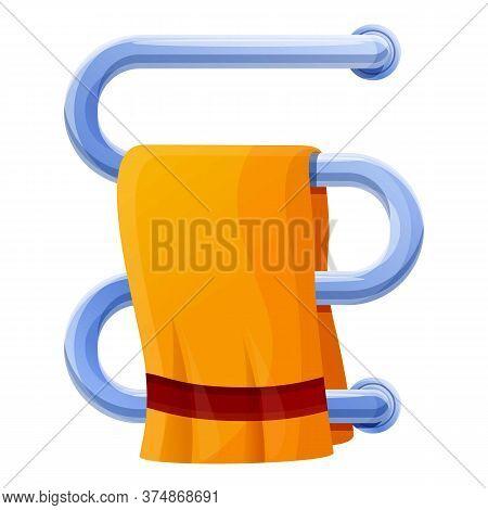 Bathroom Heated Towel Rail Icon. Cartoon Of Bathroom Heated Towel Rail Vector Icon For Web Design Is