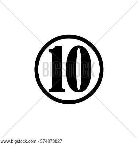 Number 10 Icon Simple Vector Sign And Modern Symbol. Number 10 Vector Icon Illustration, Editable St