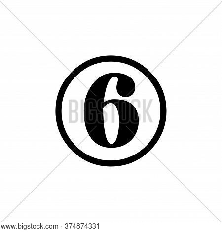 Number 6 Icon Simple Vector Sign And Modern Symbol. Number 6 Vector Icon Illustration, Editable Stro