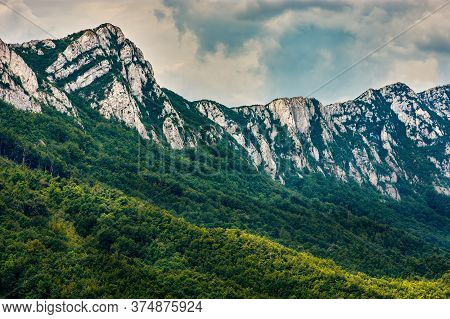 Jagged Peaks Of Veliki Krs Mountain In Eastern Serbia, Near The City Of Bor
