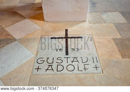 Wittenberg / Germany - February 26, 2017: Memorial To King Of Sweden Gustav Ii Adolph In All Saints