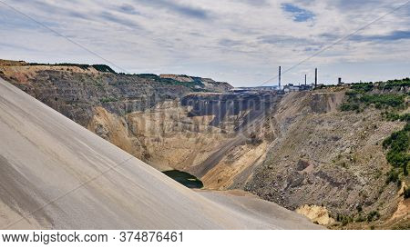 Bor / Serbia - July 13, 2019: Copper Mine And Smelting Complex Of Zijin Bor Copper In Bor, Eastern S