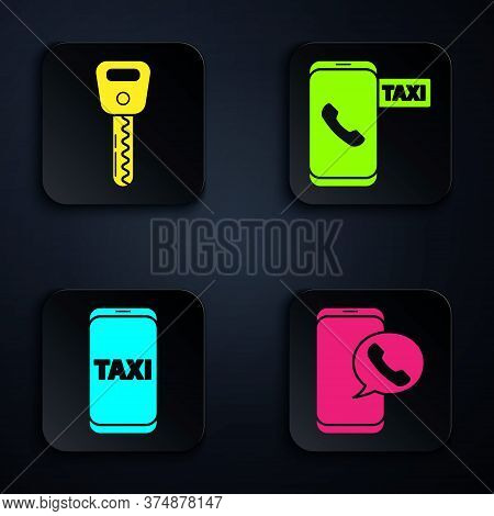 Set Taxi Call Telephone Service, Car Key, Taxi Call Telephone Service And Taxi Call Telephone Servic