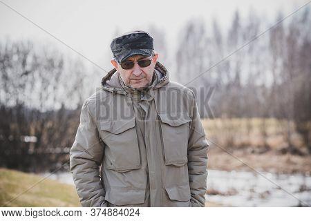 Mature Man Lifestyle, Older Man, Life After 50s, Lifestyle. Portrait Of European Or American Senior