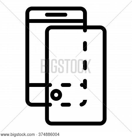 Cover Glass Protector Icon. Outline Cover Glass Protector Vector Icon For Web Design Isolated On Whi