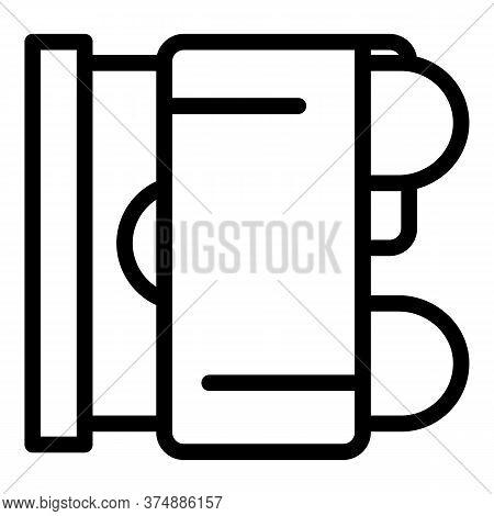 Heat Bathroom Radiator Icon. Outline Heat Bathroom Radiator Vector Icon For Web Design Isolated On W
