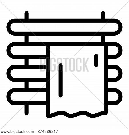 Bath Warm Rail Icon. Outline Bath Warm Rail Vector Icon For Web Design Isolated On White Background