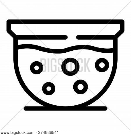Hot Tub Icon. Outline Hot Tub Vector Icon For Web Design Isolated On White Background