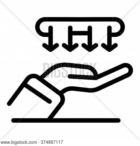 Blow Hands Icon. Outline Blow Hands Vector Icon For Web Design Isolated On White Background