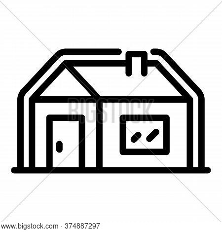 Insulated House Icon. Outline Insulated House Vector Icon For Web Design Isolated On White Backgroun