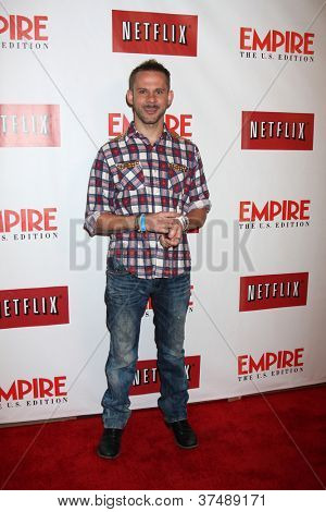 LOS ANGELES - OCT 2:  Dominic Monaghan arrives at the Empire US for iPad Launch at Sunset Tower Hotel on October 2, 2012 in West Hollywood, CA