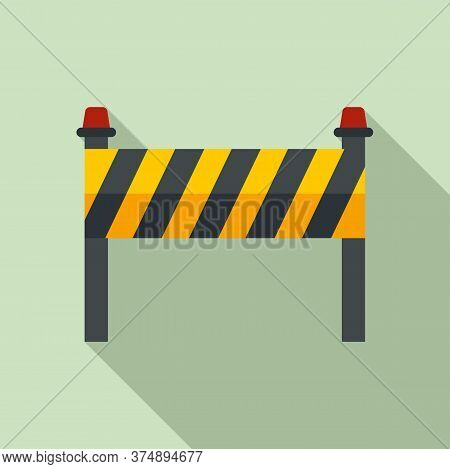 Road Construction Barrier Icon. Flat Illustration Of Road Construction Barrier Vector Icon For Web D