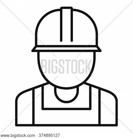 Reconstruction Worker Icon. Outline Reconstruction Worker Vector Icon For Web Design Isolated On Whi