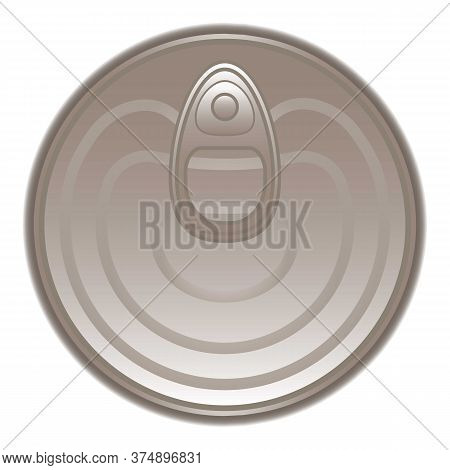 Top View Tin Can Icon. Cartoon Of Top View Tin Can Vector Icon For Web Design Isolated On White Back
