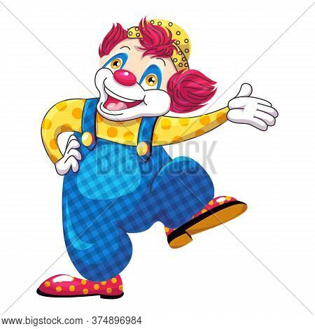 Dancing Clown Icon. Cartoon Of Dancing Clown Vector Icon For Web Design Isolated On White Background