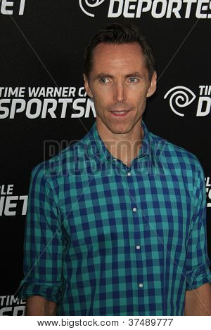 LOS ANGELES - OCT 30:  Steve Nash arrives at the Time Warner Sports Launch of TWC Sportsnet at TWC Sports Studios on October 30, 2012 in El Segundo, CA