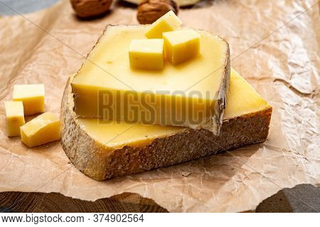 French Cheese Comte, Three Varieties 1 Year Matured Prestige, Fruity Flavoured Fruite And Vieille Re