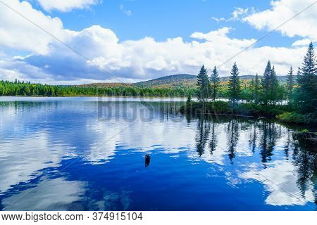 View Of Lac-des-dix-milles Lake, In Mont Tremblant National Park, Quebec, Canada