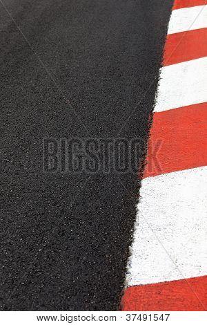 Autorennen Asphalt Bordstein auf Stadtkurs von Monaco GP