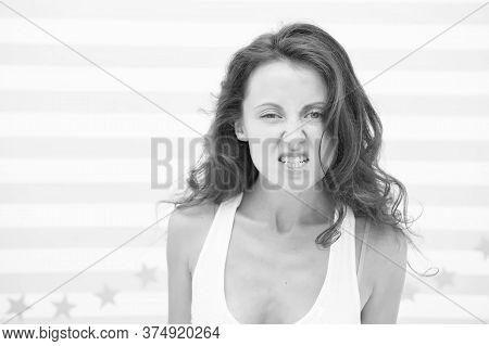 Teeth Matter. Sensual Woman Show Healthy Teeth And Gums. Dental Health. Dental Hygiene. Dental Clini