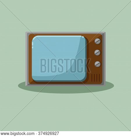 Old Vintage Tv Set. Retro Television Broadcast Device