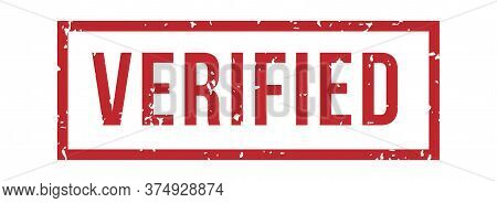 Verified Rubber Stamp. Isolated Vector Seal Rubber Stamp, Quality Control, Approval Certified, Certi