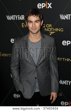 NEW YORK-OCT 3: Chace Crawford attends 'Everything Or Nothing: The Untold Story Of 007' premiere at the Museum of Modern Art on October 3, 2012 in New York City