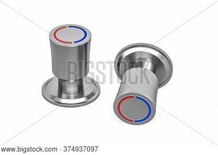 Faucet Knob Isolated On White Background - 3d Render