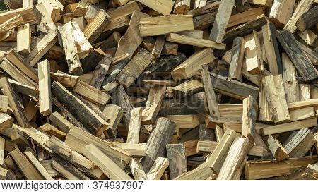 A Pile Of Splintered Wood Scattered Chaotically
